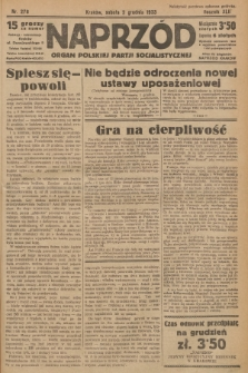 Naprzód : organ Polskiej Partji Socjalistycznej. 1933, nr278