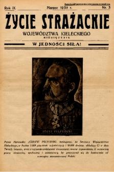 Życie Strażackie Województwa Kieleckiego : miesięcznik. 1935, nr 3