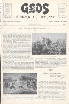 Głos Literacki i Społeczny. 1900, nr2
