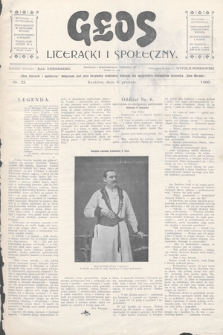 Głos Literacki i Społeczny. 1900, nr22