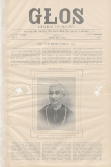 Głos Literacki i Społeczny. 1901, nr18
