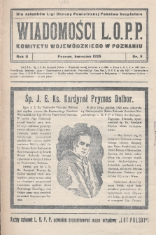 Wiadomości L.O.P.P. Komitetu Wojewódzkiego w Poznaniu. 1926, nr9