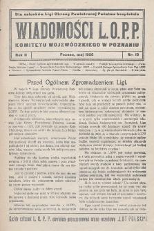 Wiadomości L.O.P.P. Komitetu Wojewódzkiego w Poznaniu. 1926, nr10
