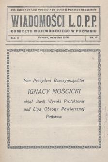 Wiadomości L.O.P.P. Komitetu Wojewódzkiego w Poznaniu. 1926, nr14