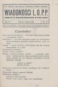 Wiadomości L.O.P.P. Komitetu Wojewódzkiego w Poznaniu. 1926, nr16