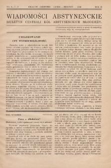 Wiadomości Abstynenckie : biuletyn Centrali Kół Abstynenckich Młodzieży. 1926, nr6-7-8