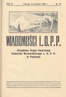 Wiadomości L.O.P.P. Komitetu Wojewódzkiego w Poznaniu. 1928, nr31
