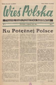 Wieś Polska : tygodnik Obozu Zjednoczenia Narodowego. 1937, nr1