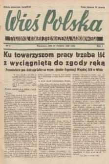 Wieś Polska : tygodnik Obozu Zjednoczenia Narodowego. 1937, nr3