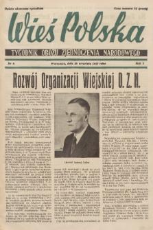 Wieś Polska : tygodnik Obozu Zjednoczenia Narodowego. 1937, nr8