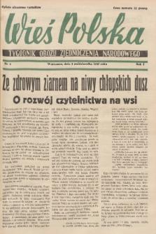 Wieś Polska : tygodnik Obozu Zjednoczenia Narodowego. 1937, nr9