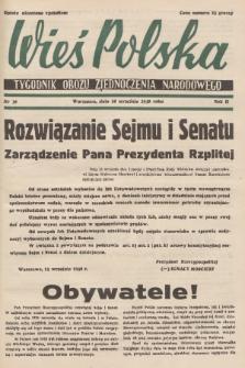 Wieś Polska : tygodnik Obozu Zjednoczenia Narodowego. 1938, nr38