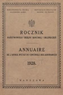Rocznik Państwowego Urzędu Kontroli Ubezpieczeń. 1928