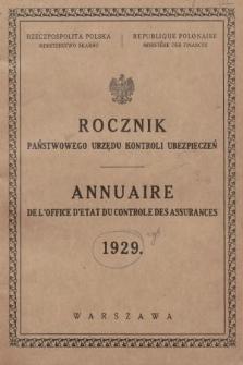 Rocznik Państwowego Urzędu Kontroli Ubezpieczeń. 1929