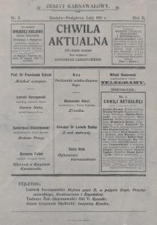 Chwila Aktualna. 1911, nr2