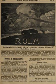 Rola : tygodnik ilustrowany : organ Polskiego Związku Rolników. 1907, nr3