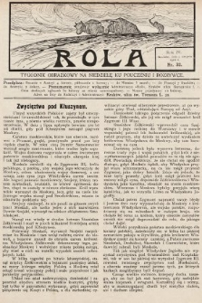 Rola : tygodnik obrazkowy na niedzielę ku pouczeniu i rozrywce. 1910, nr32