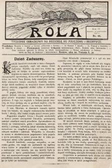 Rola : tygodnik obrazkowy na niedzielę ku pouczeniu i rozrywce. 1910, nr44