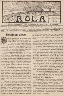 Rola : tygodnik obrazkowy niepolityczny ku pouczeniu i rozrywce. 1912, nr11