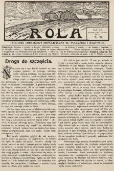Rola : tygodnik obrazkowy niepolityczny ku pouczeniu i rozrywce. 1913, nr22