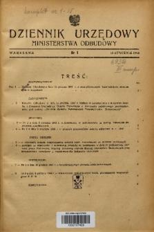 Dziennik Urzędowy Ministerstwa Odbudowy. 1948, nr 1