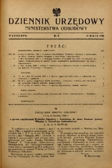 Dziennik Urzędowy Ministerstwa Odbudowy. 1948, nr 6