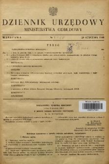 Dziennik Urzędowy Ministerstwa Odbudowy. 1949, nr 1