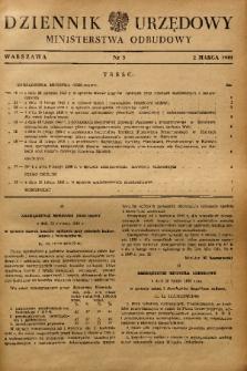 Dziennik Urzędowy Ministerstwa Odbudowy. 1949, nr 3