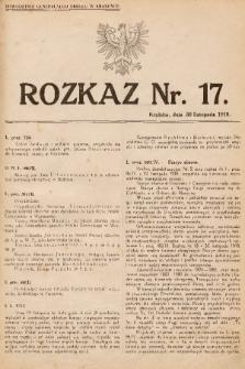 Rozkaz, nr 17