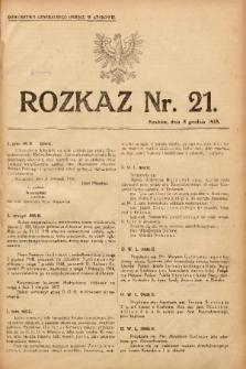 Rozkaz, nr 21