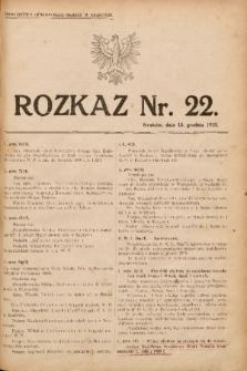 Rozkaz, nr 22