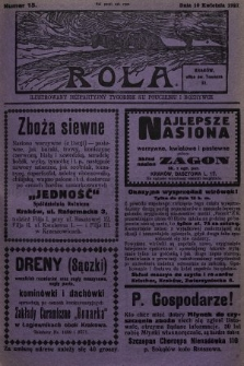 Rola : ilustrowany bezpartyjny tygodnik ku pouczeniu i rozrywce. 1927, nr15