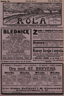 Rola : ilustrowany bezpartyjny tygodnik ku pouczeniu i rozrywce. 1929, nr12