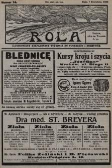 Rola : ilustrowany bezpartyjny tygodnik ku pouczeniu i rozrywce. 1929, nr14