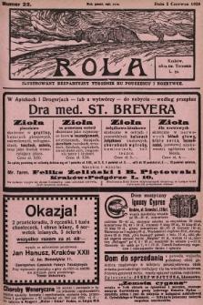 Rola : ilustrowany bezpartyjny tygodnik ku pouczeniu i rozrywce. 1929, nr22