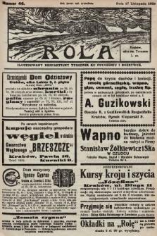 Rola : ilustrowany bezpartyjny tygodnik ku pouczeniu i rozrywce. 1929, nr46