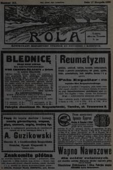 Rola : ilustrowany bezpartyjny tygodnik ku pouczeniu i rozrywce. 1930, nr33