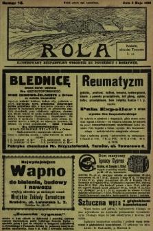 Rola : ilustrowany bezpartyjny tygodnik ku pouczeniu i rozrywce. 1931, nr18