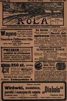 Rola : ilustrowany bezpartyjny tygodnik ku pouczeniu i rozrywce. 1931, nr35