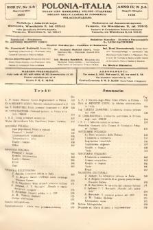 Polonia-Italia : organ Izby Handlowej Polsko-Italskiej = organo della Camera di Commercio Polacco-Italiana. 1930, nr5-6