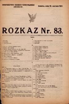 Rozkaz. 1921, nr 83
