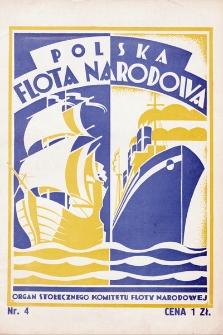 Polska Flota Narodowa : organ Stołecznego Komitetu Floty Narodowej. 1931, nr4