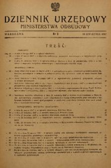 Dziennik Urzędowy Ministerstwa Odbudowy. 1947, nr 3