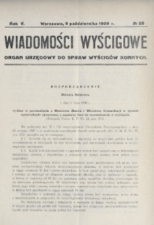 Wiadomości Wyścigowe : organ urzędowy do spraw wyścigów konnych. 1930, nr25