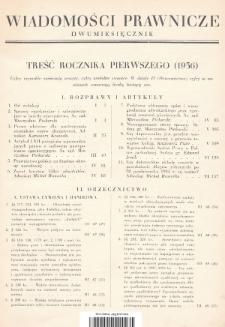 Wiadomości Prawnicze. 1936, Treść rocznika