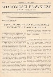 Wiadomości Prawnicze. 1936, nr2