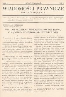 Wiadomości Prawnicze. 1936, nr3