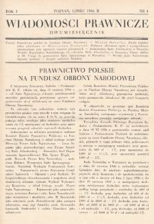 Wiadomości Prawnicze. 1936, nr4