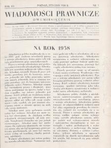 Wiadomości Prawnicze. 1938, nr1