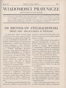 Wiadomości Prawnicze. 1938, nr3